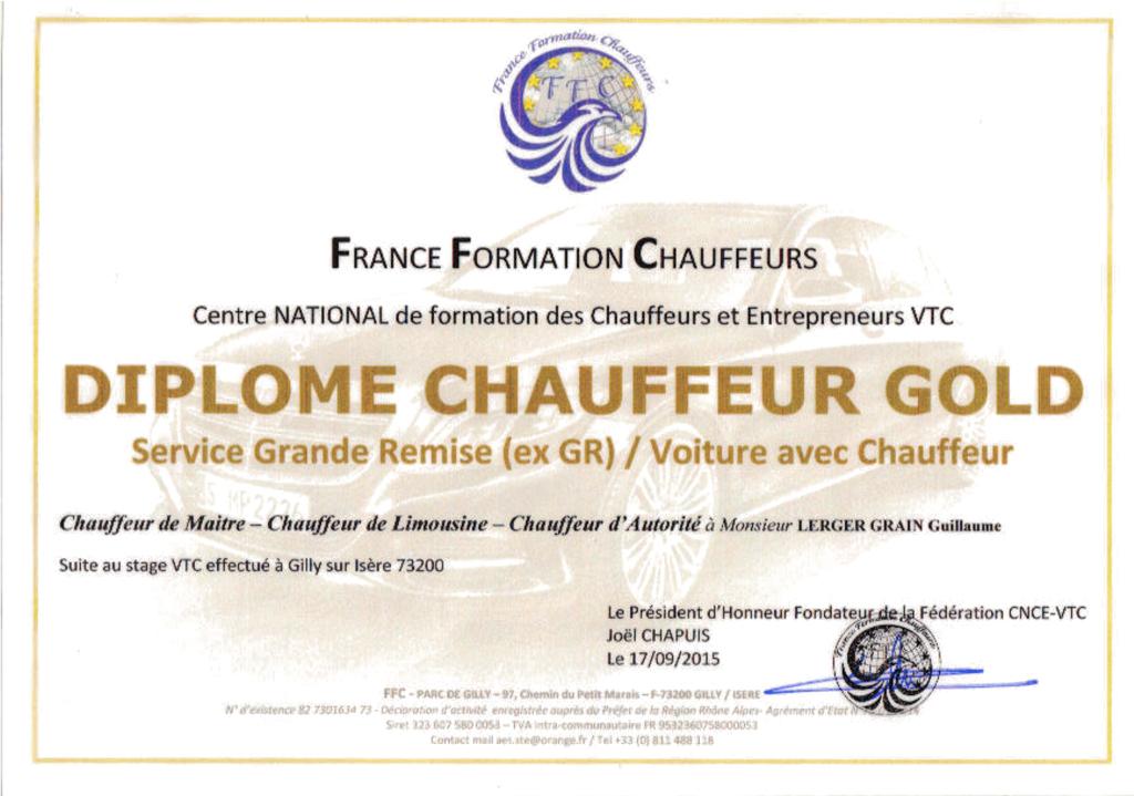 Formation VTC - Services Grande Remise